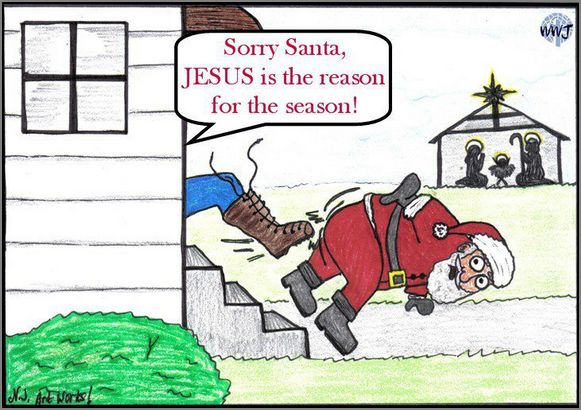 what about santa claus - Santa Claus And Jesus 2