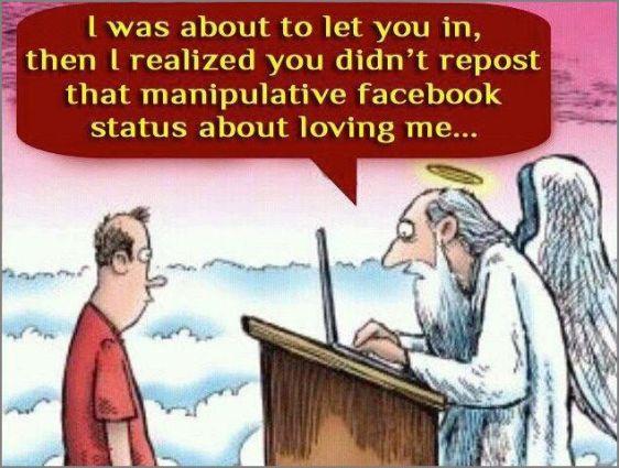 God on fb