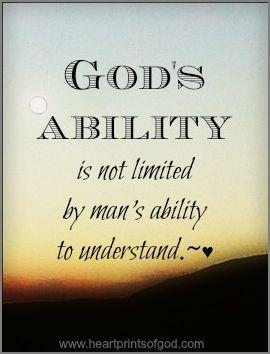 hap mon, God's ability