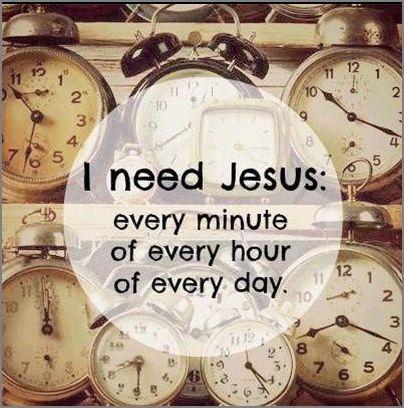 hap mon, need Jesus