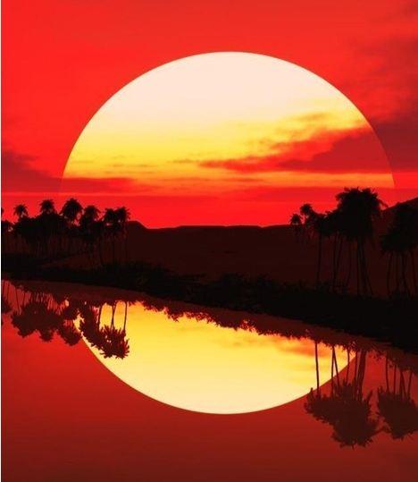 hap mon, sunset