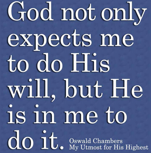God is in me