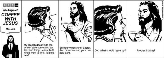 hap mon, coffee w Jesus, mini lent
