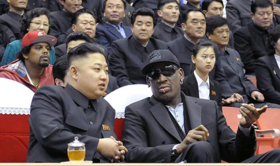 Kim with Rodman