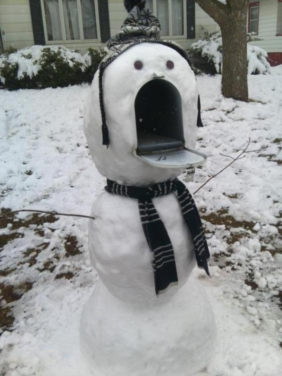 snow mail box