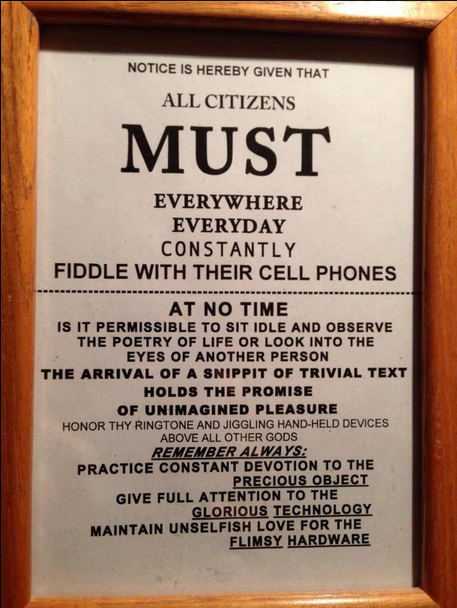 cell phone notice