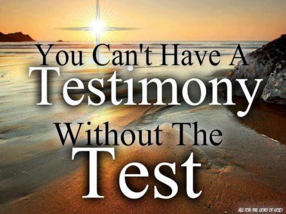 testimony, test