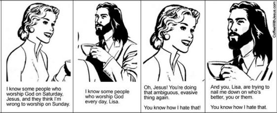 coffee w Jesus, nail me down