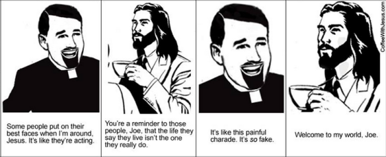 coffee with jesus, pitiful charade