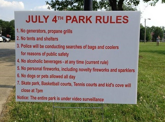 July 4th rules