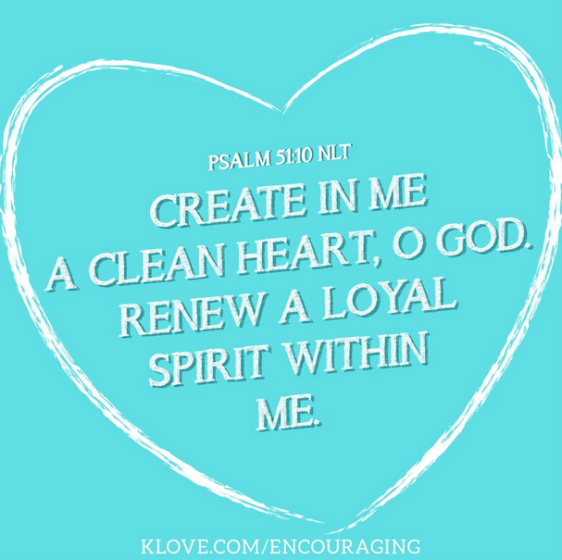 clean heart O God
