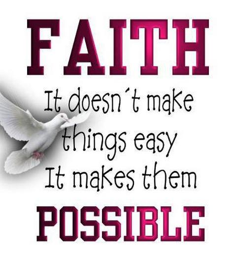 faith, possible