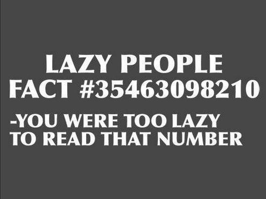 lazy fact