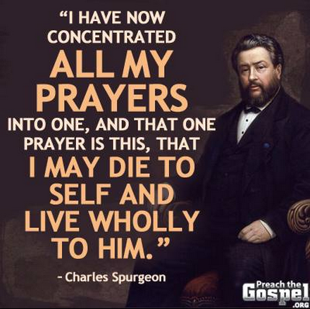 die to sin, Spurgeon