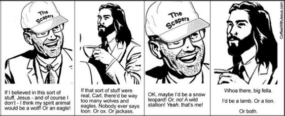 coffee with Jesus, spirit animal