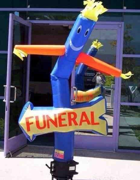 funeral tubeman
