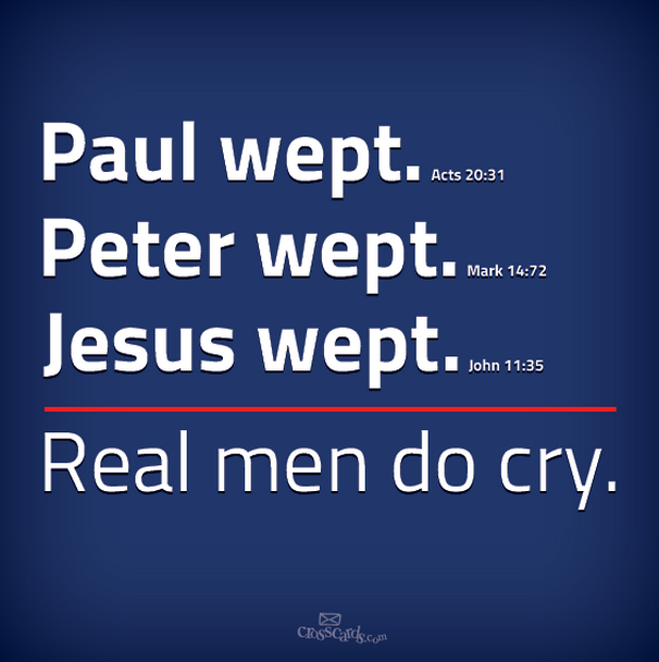Real Men Cry Quotes
