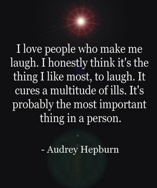Hepburn on laughter
