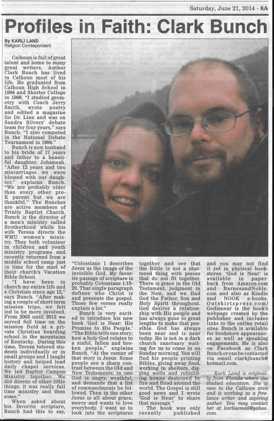 Profile Faith, Calhoun Times