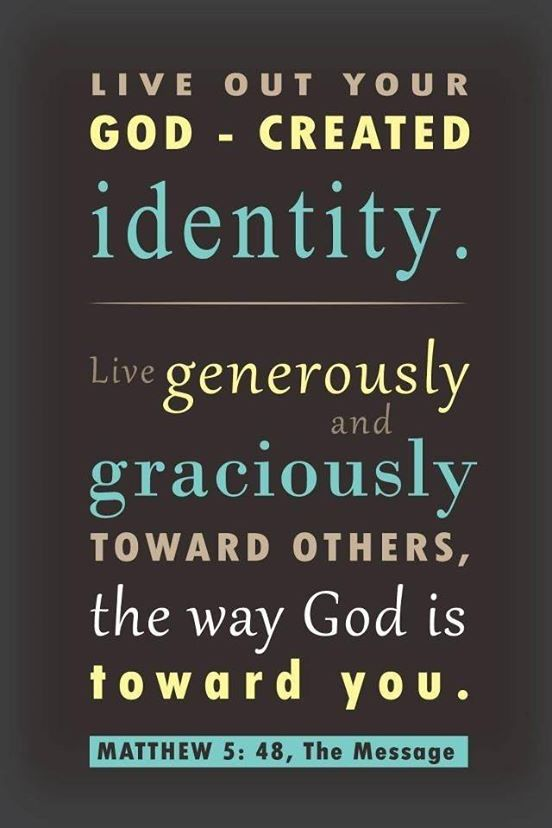 God created identity