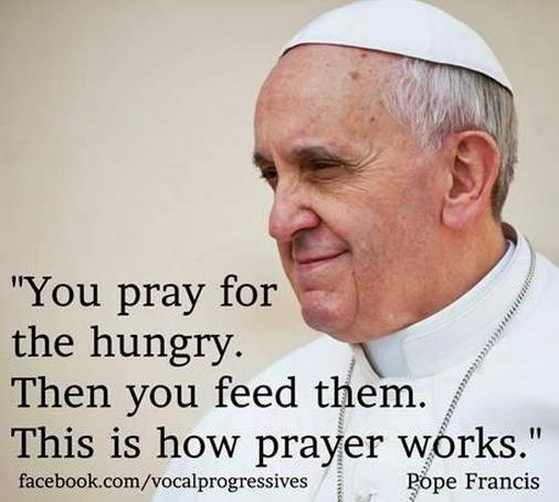 pray, work
