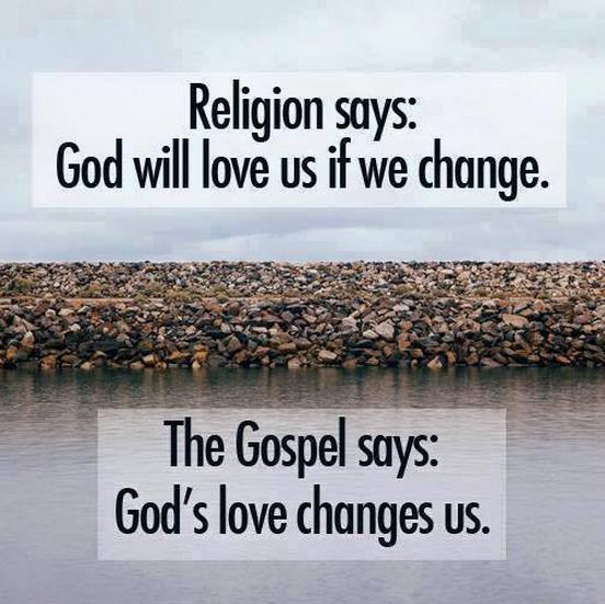 religion vs gospel