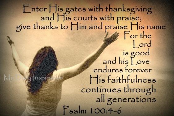 Psalm 100 4