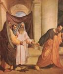 Judas returns 30 pieces of silver